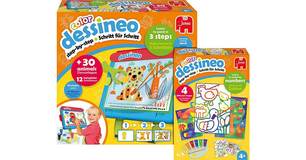 Jumbo · Bundle Dessineo Color Staffelei + Malen nach Zahlen Bauernhof