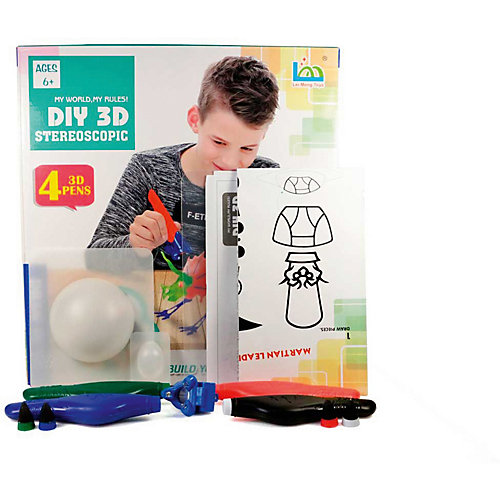 "3Д ручка DIY 3D Stereoscopic ""3D Magic Glue"" Динозавр 2, 4 ручки от 3D Stereoscopic"
