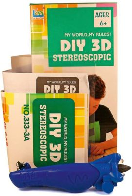 "3Д ручка DIY 3D Stereoscopic ""3D Magic Glue"" Машинка, 1 ручка"