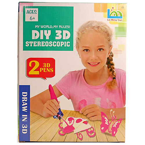 "3Д ручка DIY 3D Stereoscopic ""3D Magic Glue"" Бабочка, 2 ручки от 3D Stereoscopic"