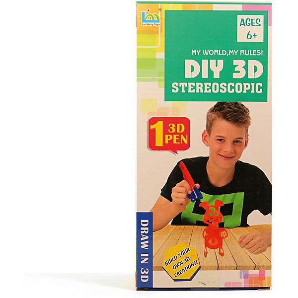 "3Д ручка DIY 3D Stereoscopic ""3D Magic Glue"" Поросёнок, 1 ручка"