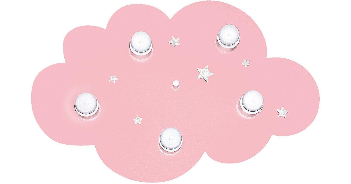 Waldi · WALDI Deckenleuchte Wolke, rosa/weiß 5-flg., 5x7W/E14