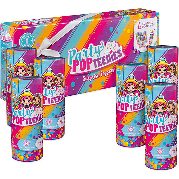 Party PopTeenies Poppers 6 Pack