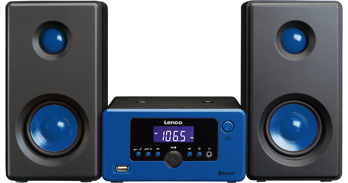 Lenco Micro-Hifi-Anlage MC-020 blau