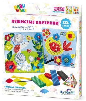 """Набор для 3D-лепки Origami """"Пудель с птичкой"""""""
