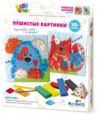 """Набор для 3D-лепки Origami """"Кот и пес"""""""