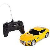 """Радиоуправляемая машина Rastar """"Mercedes AMG GT3"""" 1624, жёлтая"""