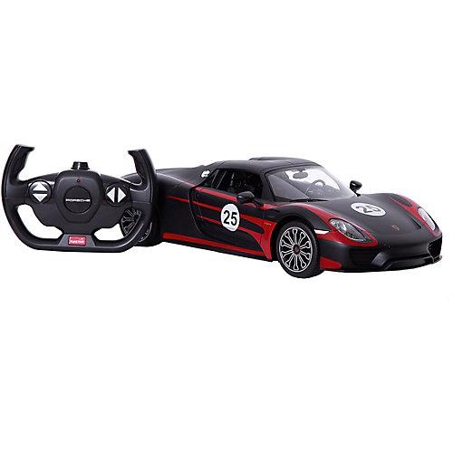"""Радиоуправляемая машина Rastar """"Porsche 918 Spyder"""" 1:14, чёрная матовая от Rastar"""