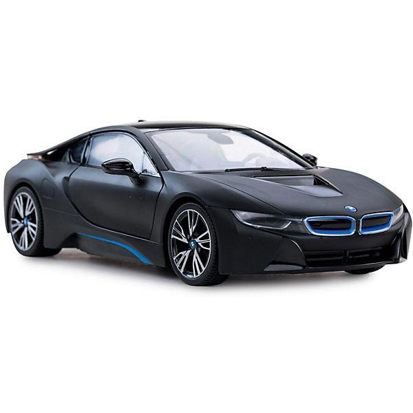 """Радиоуправляемая машина Rastar """"BMW i8"""" 1:14, чёрная матовая"""