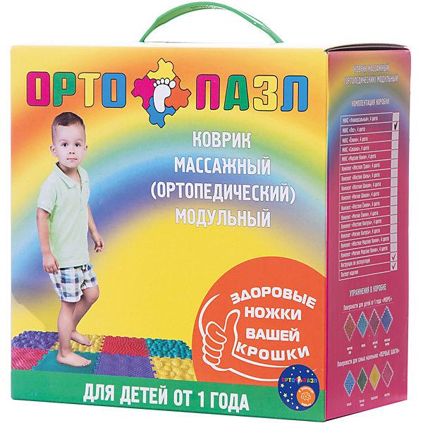 """Модульный массажный коврик Ортомикс """"Ортопазл Лес"""", 8 шт"""
