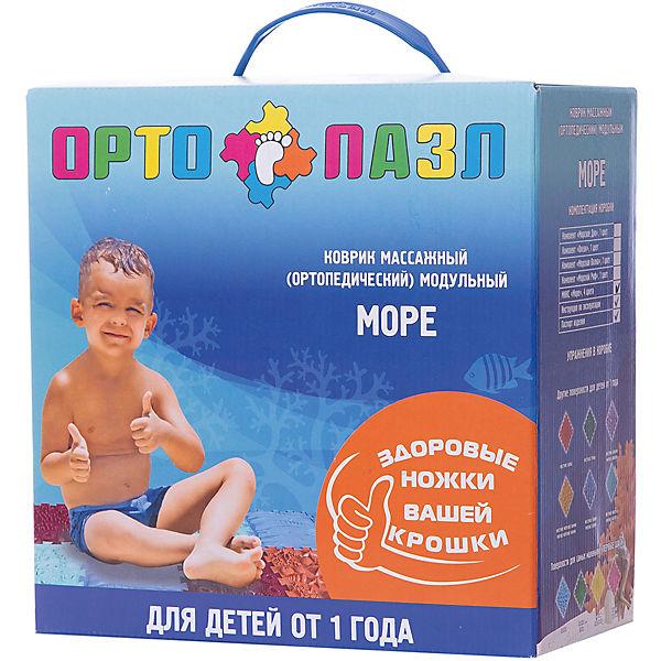 """Модульный массажный коврик Ортомикс """"Ортопазл Море"""" ортопедический, 8 шт"""