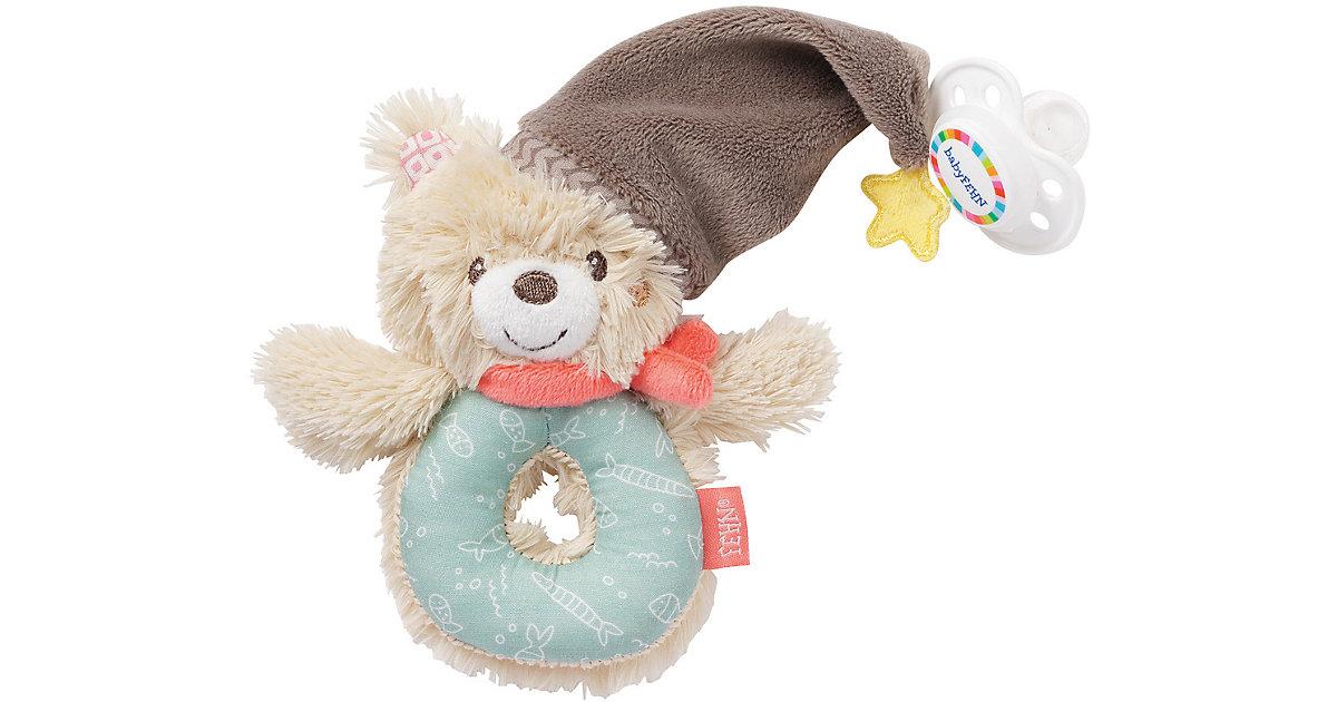 Fehn · Ring-Greifling Bär mit Schnullerhalter