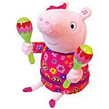 "Интерактивная мягкая игрушка ""Свинка Пеппа"" Пеппа с маракасами"", 30 см"