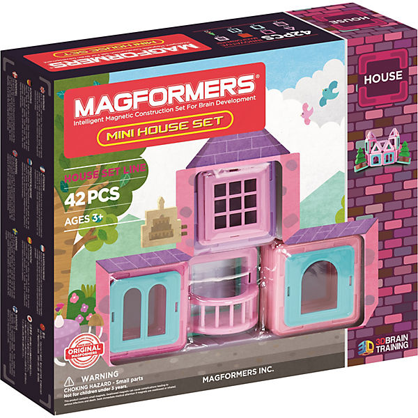 Magformers Mini House Set 42 Teile + Booklet, MAGFORMERS