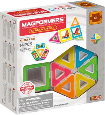 MAGFORMERS XL Neon Set 14 P, MAGFORMERS