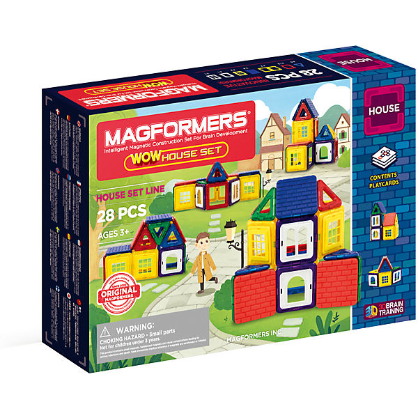 MAGFORMERS WOW House Set 28 P, MAGFORMERS