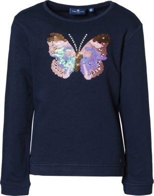 Sweatshirt mit Pailletten für Mädchen, Schmetterling, TOM TAILOR