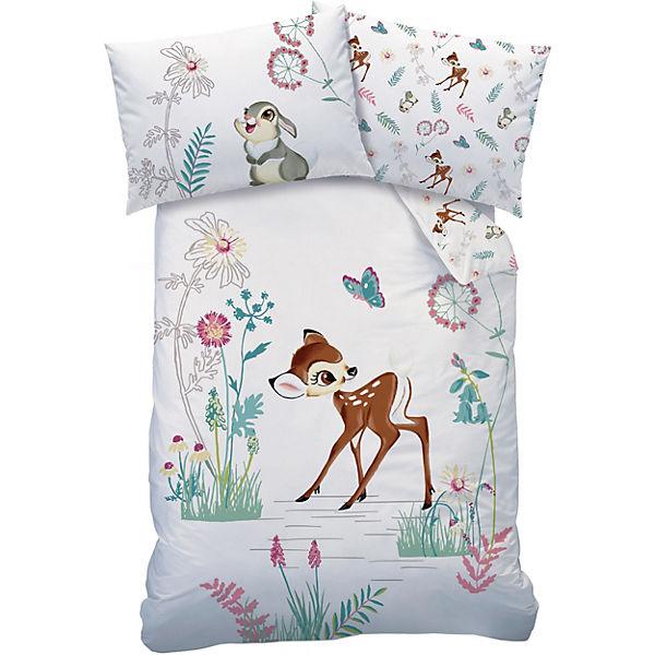 Wende Kinderbettwäsche Disney Bambi Clairiere Biber 100 X 135 Cm