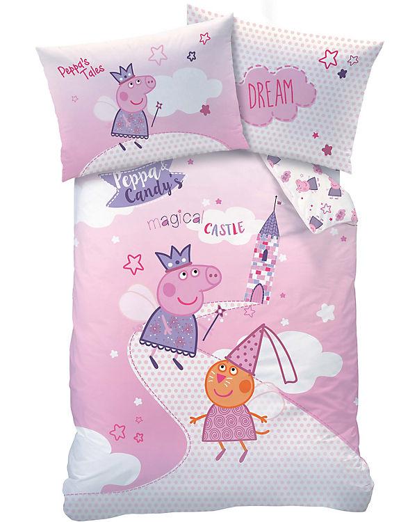 Wende Kinderbettwäsche Peppa Pig Fairytale Renforcé 100 X 135 Cm