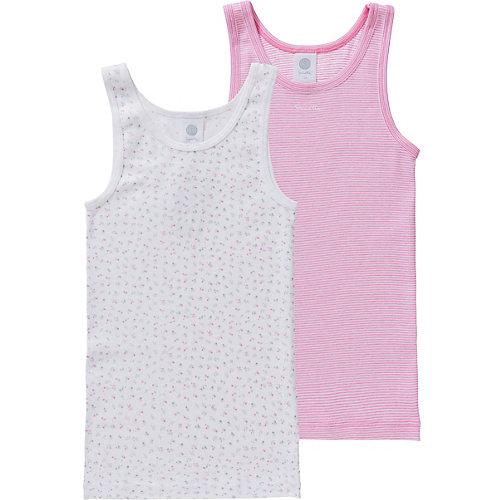 Sanetta Unterhemden Doppelpack Unterhemden , Organic Cotton Gr. 140 Mädchen Kinder | 04055502808261