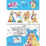 """Набор для раскрашивания """"Barbie"""" Загадай желание!, с наклейками"""