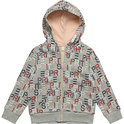 Esprit sweatshirt cardigan w hood w aop – Strickjacken Gr. 128/134 Mädchen Kinder | 03663760848045