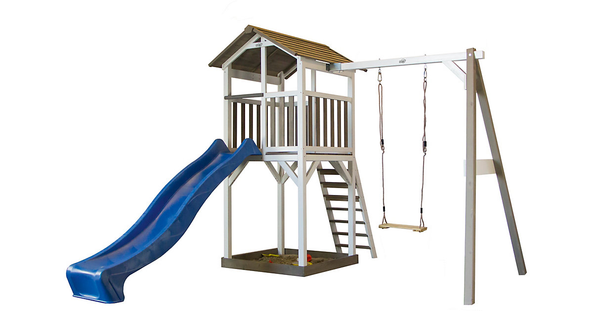 Spielturm mit Schaukel