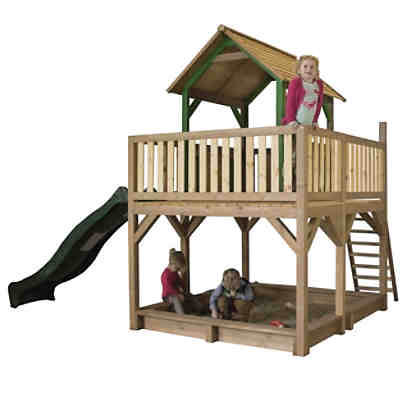 spielturm mit nestschaukel aksent ca 401 x 323 x 296 cm exit mytoys. Black Bedroom Furniture Sets. Home Design Ideas