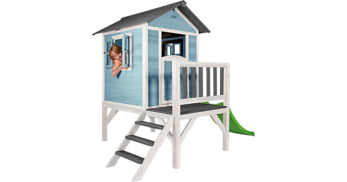 Spielhaus XL (Caribean blue) blau/weiß