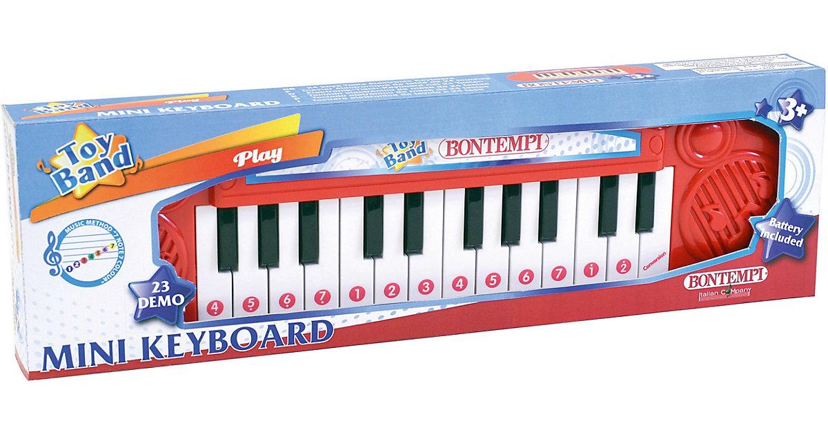 Tisch-Keyboard mit 24 Tasten rot/weiß