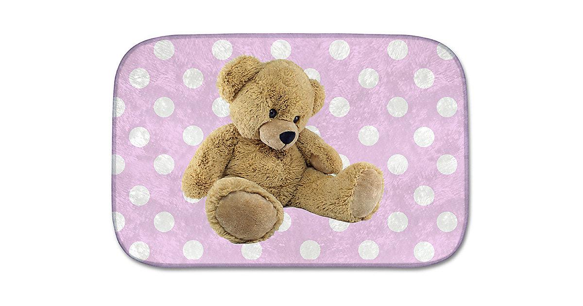 Kinderteppich Ultrasoft Teddybär, rosa, 70 x 95 cm Gr. 100 x 150