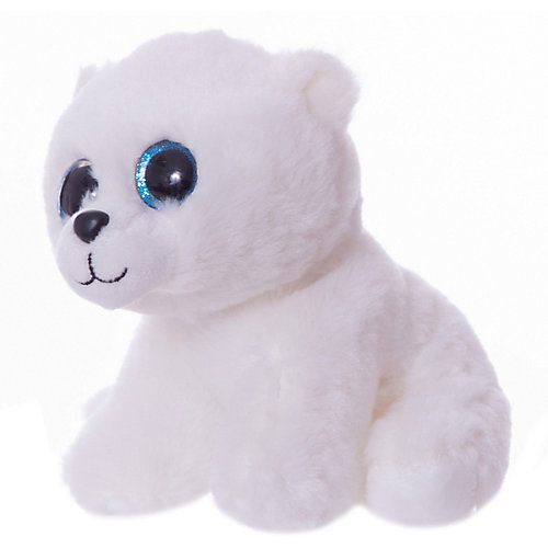 Мягкая игрушка ABtoys Полярный медвежонок белый, 15 см от ABtoys