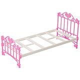 Мебель для куклы Огонёк Кроватка, розовая