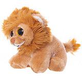 Мягкая игрушка ABtoys Львёнок коричневый, 15 см