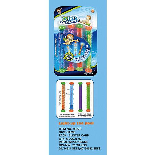 Набор игрушек для купания YG Sport, 4 светящихся водонепроницаемых палочек от YG Sport