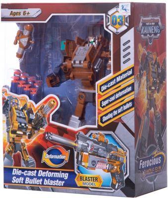 """Робот-бластер 2 в 1 ShantouGepai """"Deformation"""" Свирепый волк, 8 зарядов"""