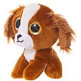 Мягкая игрушка ABtoys Собачка коричневая, 15 см