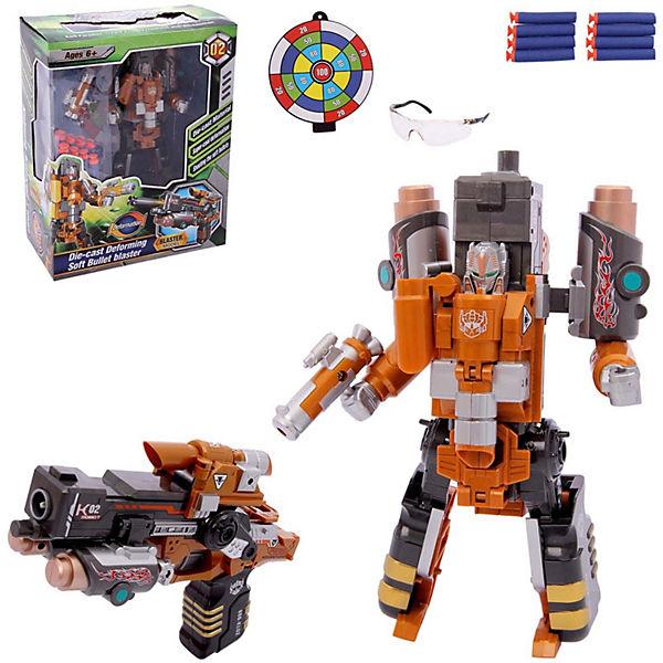 """Робот-бластер 2 в 1 ShantouGepai """"Deformation"""" Ревущий тигр, 8 зарядов"""
