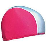 Шапочка для плавания Спортивные мастерские, бело-розовая