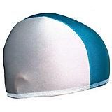 Шапочка для плавания Спортивные мастерские, бело-голубая