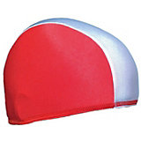 Шапочка для плавания Спортивные мастерские, бело-красная