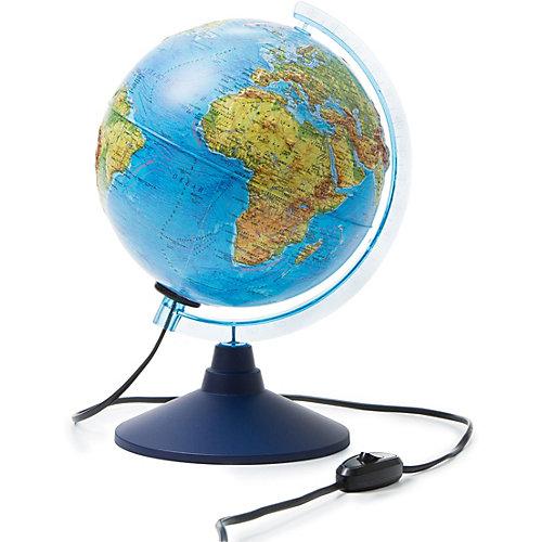 Глобус Земли Globen, физический рельефный, с подсветкой, 210мм. от Globen