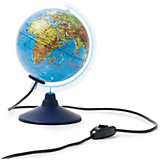 Глобус Земли Globen, физический, с подсветкой, 150 мм.