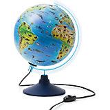 Глобус Зоогеографический Globen, с подсветкой  250мм.