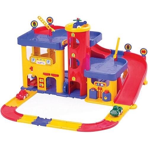 Гараж 3-х уровневый Viking Toys с набором дороги и машинками от Viking Toys