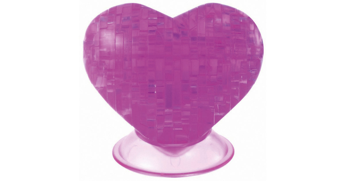 Crystal Puzzle - pinkes Herz
