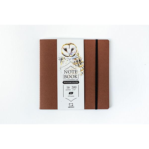 "Скетчбук для акварели Малевичъ ""Satin"", Shammy cocoa, 16 листов, 21х21"