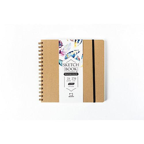 """Скетчбук для акварели Малевичъ """"Torchon"""", Beige wood, 25 листов, 21х21 от Малевичъ"""