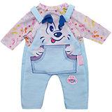 """Одежда для куклы Zapf Creation """"My little BABY born"""" Костюмчик, голубой"""