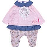 "Одежда для куклы Zapf Creation ""Baby Annabell"" Костюмчик для прогулки, розово-голубой"